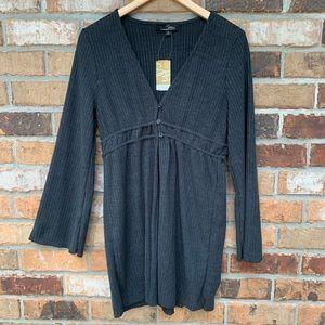 Suzanne Betro Dark Grey Long Sleeve Cardigan
